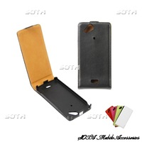 High Quality Leather Case Sleeve for Sony Ericsson Xperia Arc (X12/ Anzu) / Arc S LT18i Free Shipping