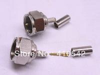 10PCS F male plug crimp RG174 LMR100 RG316 cable RF connector