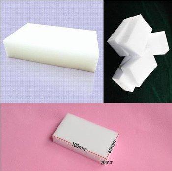 100 pcs/lot Wholesale White Magic Sponge Eraser Melamine Cleaner,multi-functional Cleaning 100x60x20mm  Free Shipping