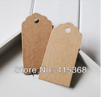 Free shpping! 100pcs Kraft Paper Gift Tag, for Gift Bags/Boxes/Clothes of Party, holiday and wedding