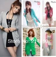 happy SZ  Solid Cardigan Suits Knitwear women Casual Gardening Look FSY0008