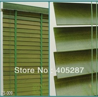 European Effort High Profile Import Basswood Real Wood Blinds Custom Made GREEN COLOR