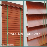 European Effort High Profile Import Basswood Real Wood Blinds Custom Made Cherry Color