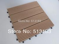 Durable and waterproof outdoor and indoor wood plastic composite/wpc DIY tiles