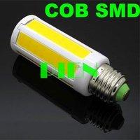 COB LED Bulb E27 E14 8W Corn light super bright Home Bedroom Cool|Warm White 360 degree Free Shipping 10pcs/lot