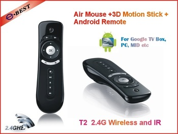 Free shipping 2012 Android TV Box Partner, 2.4GHz Mini Wireless Bluetooth, Fly In Air Mouse for Android TV BOX, Wholesale price