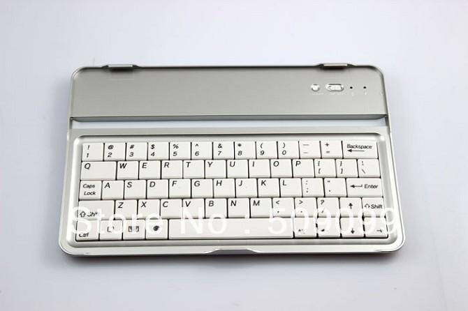 For 7.9 inch ipad mini aluminum Bluetooh Wireless Keyboard with retail package 20pcs/lot Free shipping(China (Mainland))