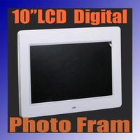 "Free Shipping 10 "" Digital Photo Picture Frame MP3 MP4 MOVIE + Remote Control 1024*600"
