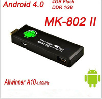 Whole sale 50pcs/lots Rikomagic MK802 II Mini Android 4.0 Mini PC Google TV Box A10 Cortex A8 1GB RAM 4G ROM