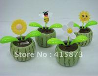 Free shipipng by EMS (120pcs/lot) solar flip flap solar dancing flower solar swing flower (water melon series)