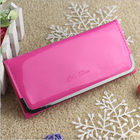 New fashion Crystal long style handbag lady girl wallet bow butterfly diamond women wallet Drop shipping