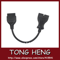 Free shiping newest OBD II 16PIN FEMALE for GM 12PIN OBD2 connector tool