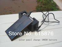 New 18650 3.7V/2200mah battery solar charger & mobile phone charger 1.0Watt 5.0V input and 4.2V output single slot