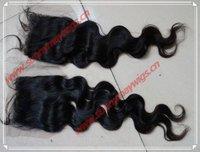 "Sunnymay Malaysian virgin human hair natural wave lace closure bleached knots top closure in stock 3""*4"""