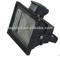 Free shipping Epistar chip 10W 20W 30W 50W led flood light in door lighting with sensor