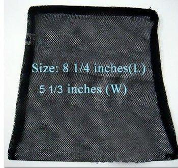 5PCS/Lot Filter zipper Media Bag Net Sock Black for Aquarium Pond Tank Fish Koi bio balls Activated Carbon Bulk Wholesale