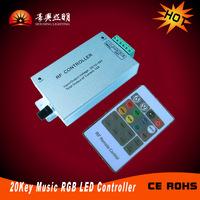 20 Key Wireless RGB Controller with Remote, RF RGB Controller with Aluminm Housing,  Controller for RGB LED Strip