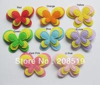 PA0001 butterfly applique 200pcs mixed colors 3.2cm*2.5cm 3-layer padded felt applique DIY ornament accessory