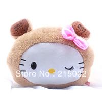 HELLO KITTY hand pillow nap pillow kt cat hand warmer cushion plush toy birthday gift