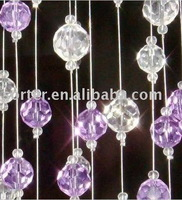 colour crystal bead curtain,connected with ring,14mm diameter bead,sold by meter or by whole curtain