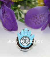 FREE SHIPPING 5PCS light blue elastic band Watch Finger Rings #22322