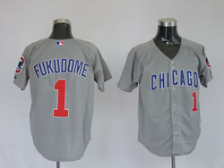 Free shipping! Wholesale Chicago Cubs 1 Kosuke Fukudome blue, grey, White Baseball jersey(China (Mainland))