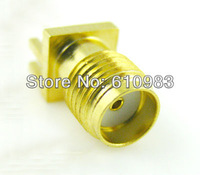 Free shipping (50pcs/lot) SMA female edge mount PC Board receptacle connector