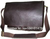 Free shipping Boys Mens 100% Genuine Bull Leather Messenger Shoulder Bag Satchel School Bags  8737