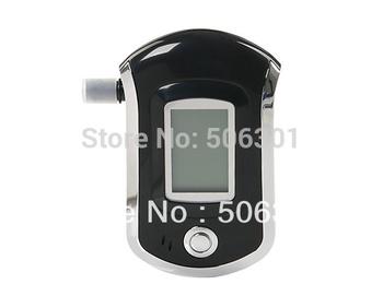 Free shipping + New 2014 Alcohol breathalyzer AT 6000 LCD Display Digital Alcohol Breath Tester Breathalyzer (Black)