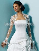 High Quality Lace Bolero Wedding Accessories for Brides Bridal Jacket JA015 free shipping lace pattern boleros