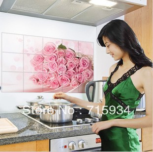 free shipping,MINI ORDER:10$(MIX ORDER) large heat resisting wall sticker home decor for kitchen ,resistant to water, oil, dust