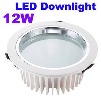 Spain Style 12W LED Downlight Recessed Down Lighting Lamp Warm|Cool White 85-265V PC Cover+LED Driver Free Shipping 2pcs/lot