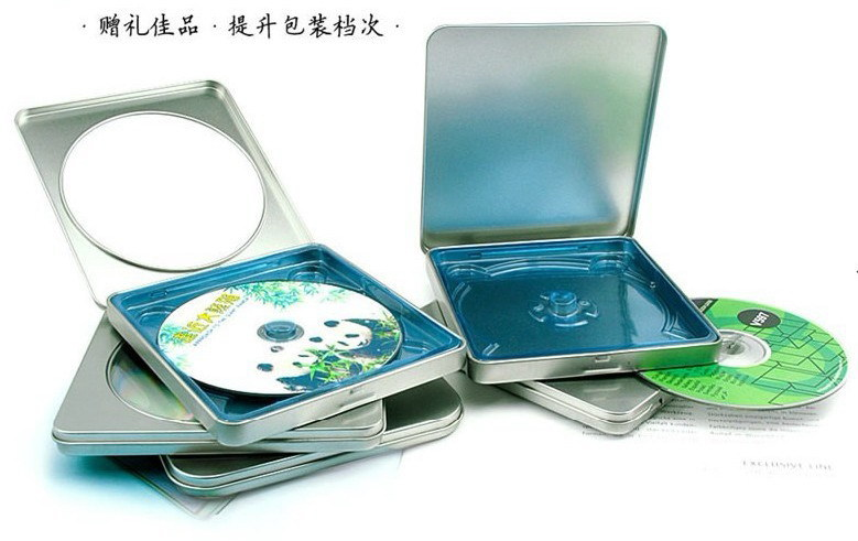 Free shipping 13x14.5x1.1cm DVD CD Tins Packaging case boxes metal Holder 16pcs/lot(China (Mainland))