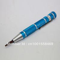 Free shipping 10pcs/lot 9 bits in 1 T4 T5 T6 T8 PH000 PH00 5 star pentalobe 0.8 1.2 flat 2.0 pocket screwdriver for ihone 4S 5