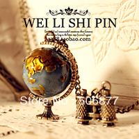 wholesale fashion women accessories vintage travel globe necklace