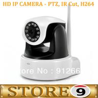 Wireless HD IP Security Camera - PTZ, IR Cut, H264