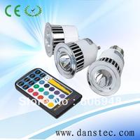 Free shipping 5W E27 remote control RGB Led light bulb Lamp,rgb led spotlight