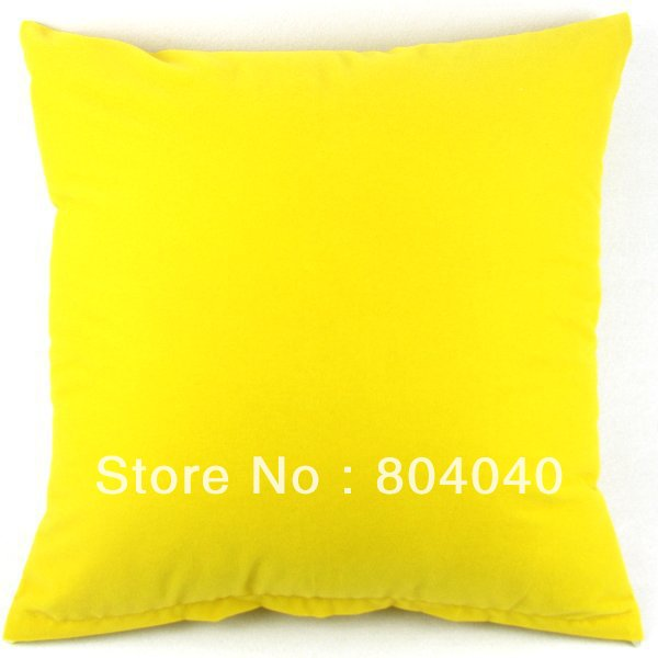 "Wholesale Price High Quality Solid Lemon Yellow Design Pillow Case Decor Cushion Cover Square 20""/50cm PG05(China (Mainland))"