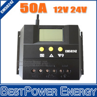 Factory Direct , LCD Display 50A 12V&24V Auto PWM PV Charge Controller / Solar Regulator, CE, RoHS, ISO9001