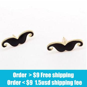 Fashion rhinestone vintage moustache earrings jewelry wholesale free shipping Engagement  gem rings  jewelry 2014 women PT31