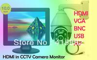 New year ! 10  inch  led monitors  with HDMI/AV /VGA/BNC/USB  in + Fedex  free shipping