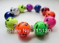 Vintage Crystal Disco Colorful Beads Bracelets Set For Women Handmade Stretchy Hot Neon Bracelets & Bangles Wholesale
