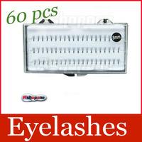 60pcs 12mm Individual Fake False Eyelashes Extension Natural Makeup Tools