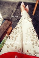 Free shipping New arrival high quality handmade beading paillette legging
