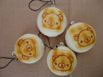 Easy bear mobile phone pendant easy bear bread cell phone accessories easy bear