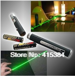 Wholesale - High Power 200mw 532nm Green Laser Pointer Pen (Black) Free shipping(China (Mainland))