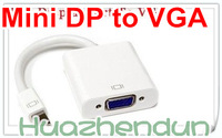 Free shipping Mini displayport DP Male to VGA Cable Adapter for Apple Macbook Air Pro Mac 1PCS/Lot