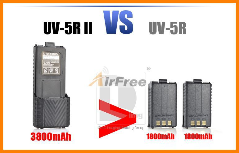 Original rechargeable Battery pack for Baofeng UV-5R 7.4V 3800 mah Li-ion Battery for UV5R two way radio(China (Mainland))