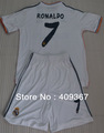 can cumtoms name&number + 2012 Real Madrid 7# Ronaldo long sleeve soccer jersey sets(jerseys+shorts),soccer uniforms
