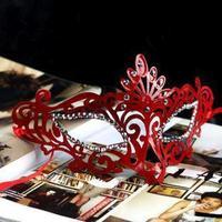 Free ship!12pc!Fashion creative party show dance imitate crystal Princess masks